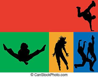 dança, arco íris