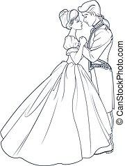 dança, bola, príncipe, cinderela