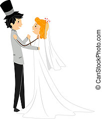 dança, casório