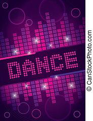 dança, desenho, fundo, danceteria
