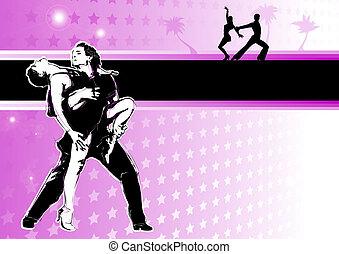dança, latino, paixão