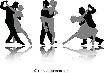 dança, pares