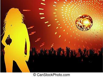dança, partido, discoteca