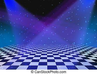 dança, partido, fundo, chão