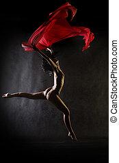 dança, pelado