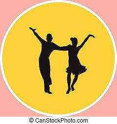 dança, pessoas