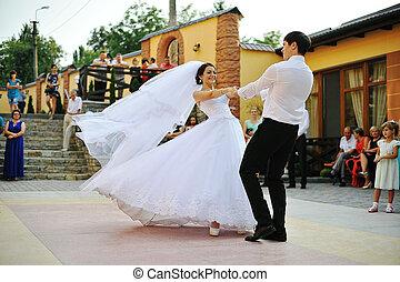 dança, primeiro, casório
