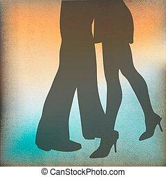 dança, salão baile, fundo