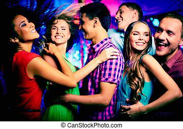 dançar, em, discoteca