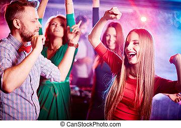 dançar, em, grupo