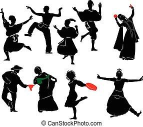 dançarino, étnico