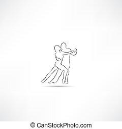 dançarino, ícone