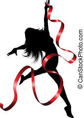 dançarino, fita