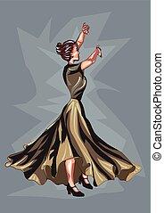 dançarino, flamenco