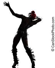 dançarino, homem, dançar