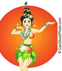 dançarino, hula
