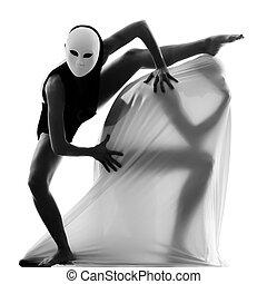 dançarino, par, conceito, amor, artista
