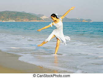 dançarino, praia