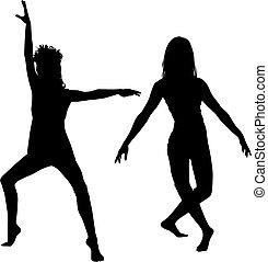 dançarino, silueta