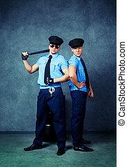 dançarinos, striptease, policiais