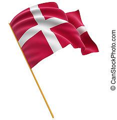 danés, 3d, bandera