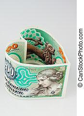 danés, moneda, crowns., dinamarca