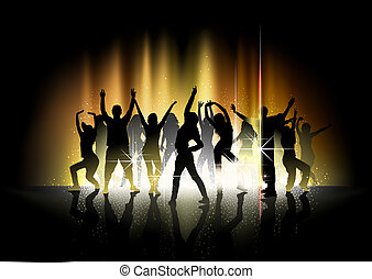 Dance and Light Show - Party Background Illustration, Vector