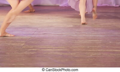 Dance barefoot on stage