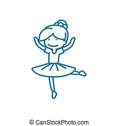Dance club linear icon concept. Dance club line vector sign,...