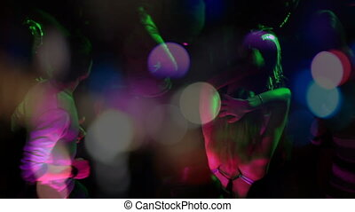 Montage of a dance club party