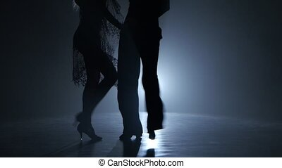 Dance couple demonstrating magnificent choreography of...