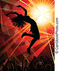 dance - Dancing girl in the nightclub