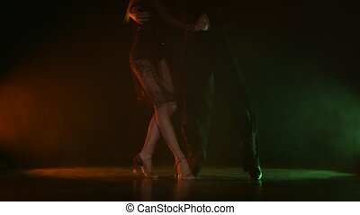 Dance element from the jive, pair of champions. Color background