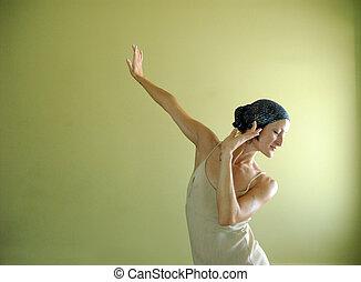 Dance Expression - Female dancer expression.