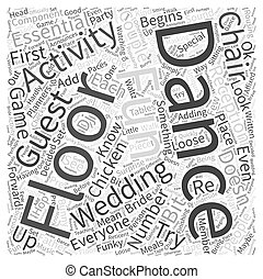 Dance Floor Activities Word Cloud Concept