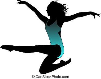 Dance girl ballet silhouettes - Dance girl ballet collection...