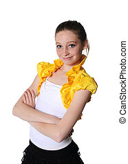 dance girl isolated on white