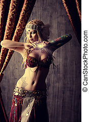 dance girl - Beautiful traditional female dancer. Ethnic...