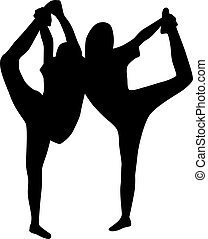 Dance girl silhouette vector