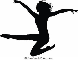 Dance girl silhouette- vector