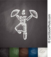 dance icon. Hand drawn vector illustration
