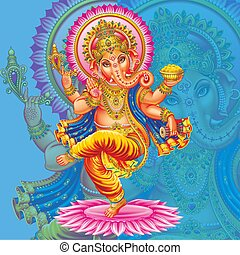 Dance Lord Ganesh background