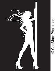 Dance model. - Pole dancing model.