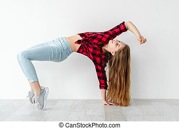 Dance move performed by young girl