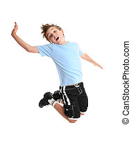 Dance moves - Child moving and grooving  in mid air.