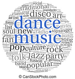 Dance music concept words