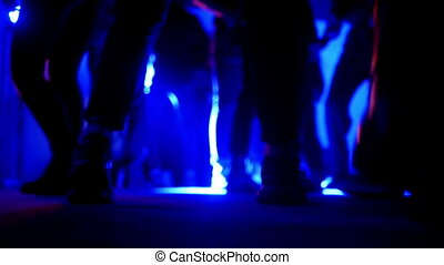 Dance music party club - Dancing to the music of party with...