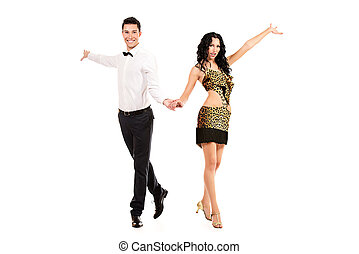 dance occupation - Beautiful professional artists dancing...