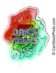 Dance party music poster template.  Vector abstract background.