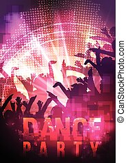 Dance Party Night Poster Background
